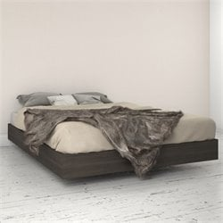 Nexera Momentum Queen Size Platform Bed in Ebony