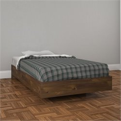 Nexera Nocce Twin Size Platform Bed in Truffle