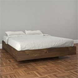 Nexera Nocce Full Size Platform Bed in Truffle