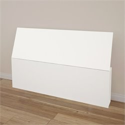 Nexera Paris Queen Size Headboard with Storage in White