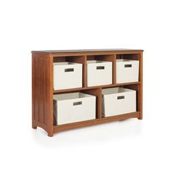 Guidecraft Mission 5 Shelf Bookcase in Walnut