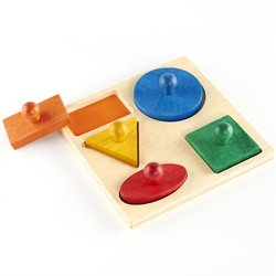 Guidecraft Hardwood Geometric Puzzle Board