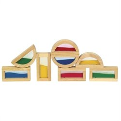 Guidecraft Hardwood Rainbow Blocks - Sand