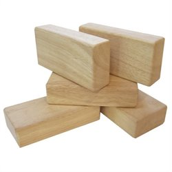 Guidecraft 5 Pieces Hardwood Unit Block Set