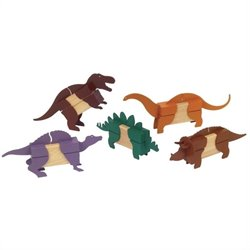 Guidecraft Hardwood Block Mates Dinosaurs