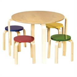 Guidecraft Nordic Table and Chairs (Color)
