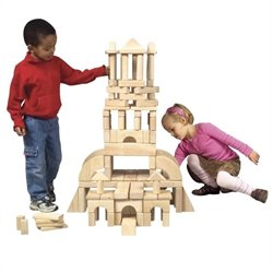 Guidecraft Hardwood Unit Blocks (110 Pieces)