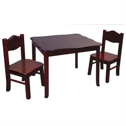 Guidecraft Classic Espresso Table and Chairs