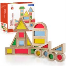 Guidecraft 20-Piece Jr. Rainbow Blocks