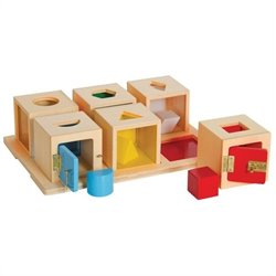 Guidecraft Peekaboo Set of 6 Lock Boxes