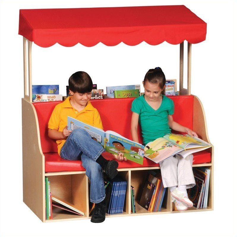 Sit and Store Reading Center with Canopy