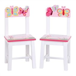 Guidecraft Butterfly Buddies Kids Chairs (Set of 2)