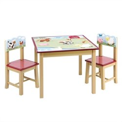 Guidecraft Farm Friends Table and Chairs Set