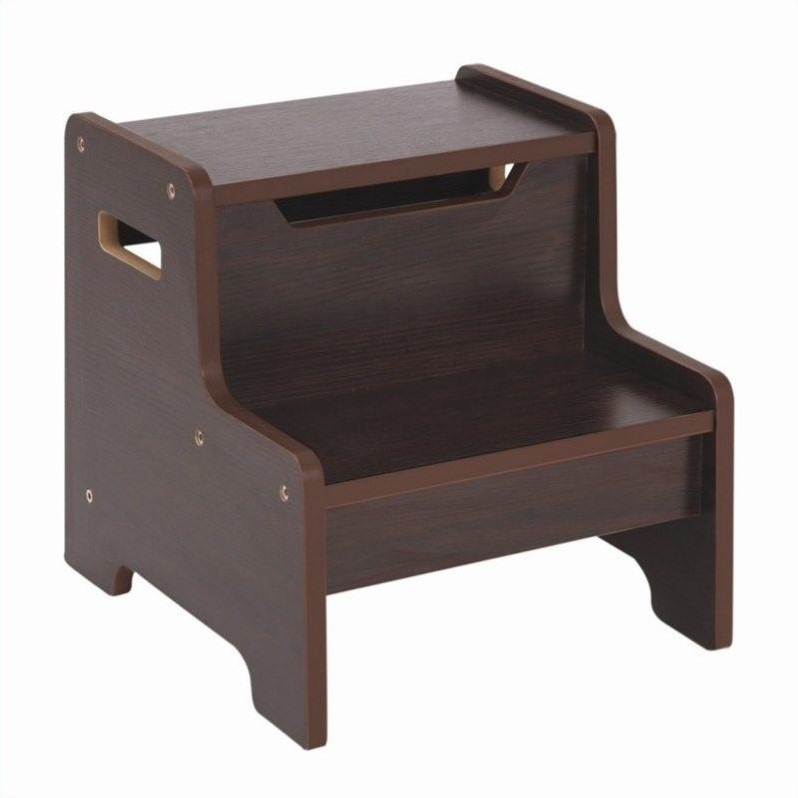 Guidecraft Expressions Step Stool In Espresso G87306
