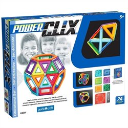 Guidecraft PowerClix 74 Piece Classroom Set