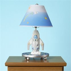 Guidecraft Rocket Lamp in White and Blue