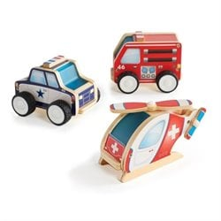 Guidecraft Jr. Plywood Community Vehicles