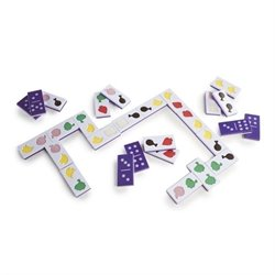 Guidecraft Jumbo Texture Food Dominoes