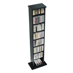 Prepac Slim CD DVD Media Storage Rack in Black