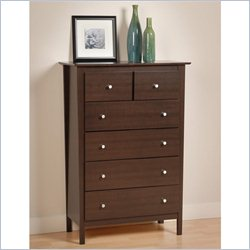 Prepac Berkshire 5 Drawer Chest in Espresso