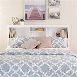 Prepac Monterey Full / Queen Bookcase Headboard in White