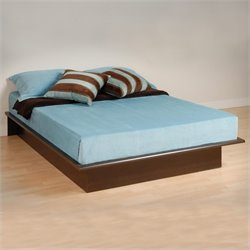 Queen Size Platform Bed in Espresso Finish