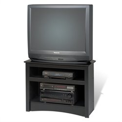 Prepac Sonoma Corner TV Stand in Black Laminated Finish