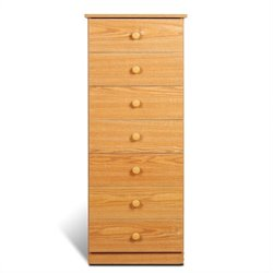 Prepac Juvenile 7 Drawer Lingerie Chest in Oak