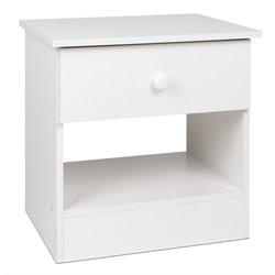 Prepac Juvenile 1 Drawer Nightstand in White