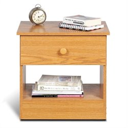 Prepac Juvenile 1 Drawer Night Stand in Oak