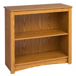 2 Shelf Wood Bookcase in Oak