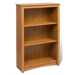 Prepac Sonoma 4 Shelf Wood Bookshelf in Oak