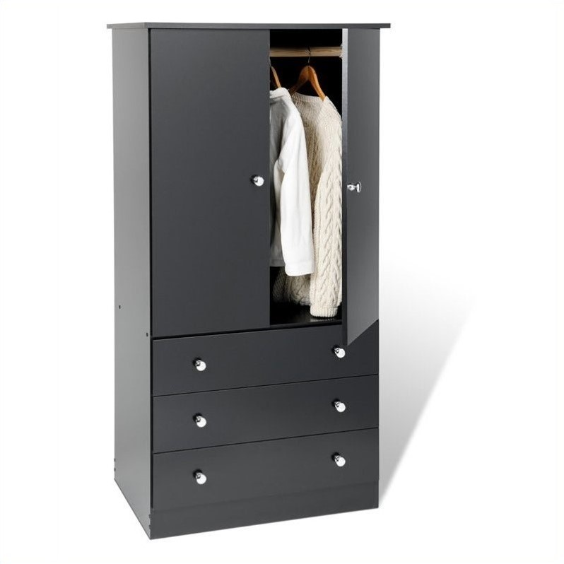 Black Juvenile TV/Wardrobe Armoire