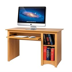 Prepac Sonoma Small Wood Computer Desk in Maple