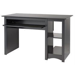Prepac Sonoma Small Wood laminate Computer Desk in Black