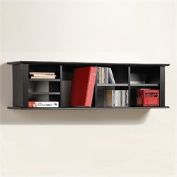 Prepac Sonoma Black Wall Hutch