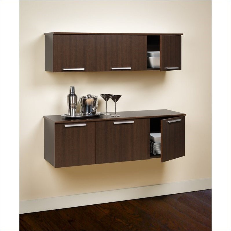 Wall Mounted Hutch in Espresso