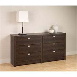 6 Drawer Double Dresser in Espresso