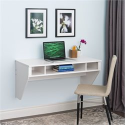 Floating Desk in Fresh White Finish