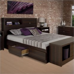 Prepac Series 9 Designer Bed in Espresso
