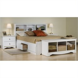 4-Piece Queen Bedroom Set in White