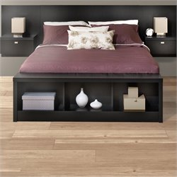 Prepac Series 9 Designer Storage Bench in Black