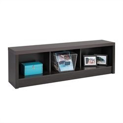 Prepac District Storage Bench in Black Laminate