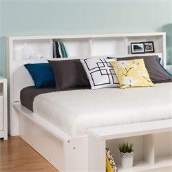 Prepac Calla Panel Headboard in White - Full / Queen