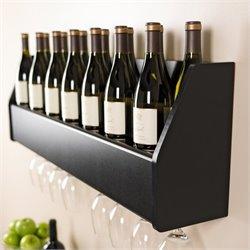 Prepac Floating Wine Rack in Black