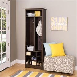 Entryway Organizer with Shoe Storage in Espresso