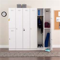 Prepac Elite 6 Piece Storage Locker in White