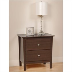 Prepac Berkshire 2 Drawer Nightstand in Espresso