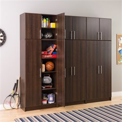 Prepac Elite Wall Storage Unit in Espresso