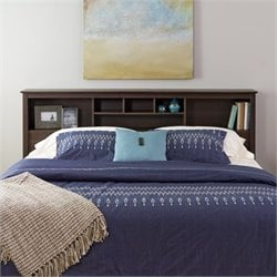Prepac Manhattan King Bookcase Headboard in Espresso Finish